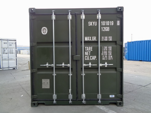 container 10 rear